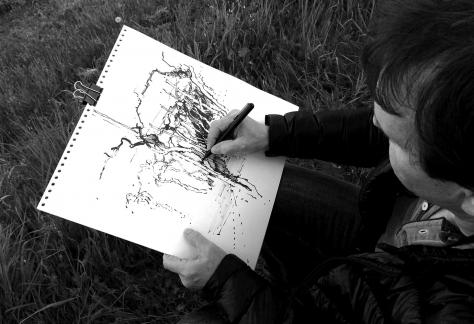 Erwin Kastner Kunstkurs Tuschpinselzeichnung