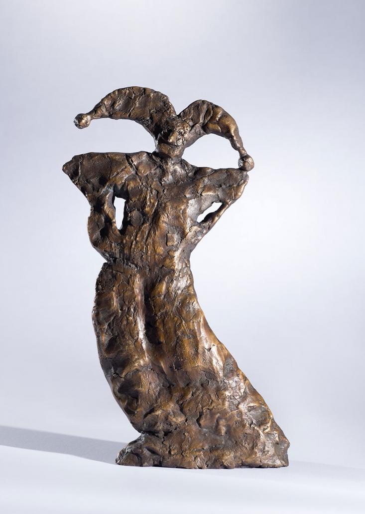 Erwin Kastner Bronze Skulptur Harlekin