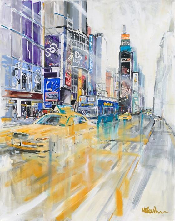 Erwin Kastner Acryl New York Cab Taxi