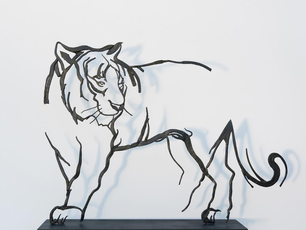Erwin Kastner Skulptur Stahl Tiger