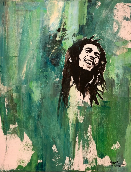Erwin Kastner Acryl Portait Bob Marley