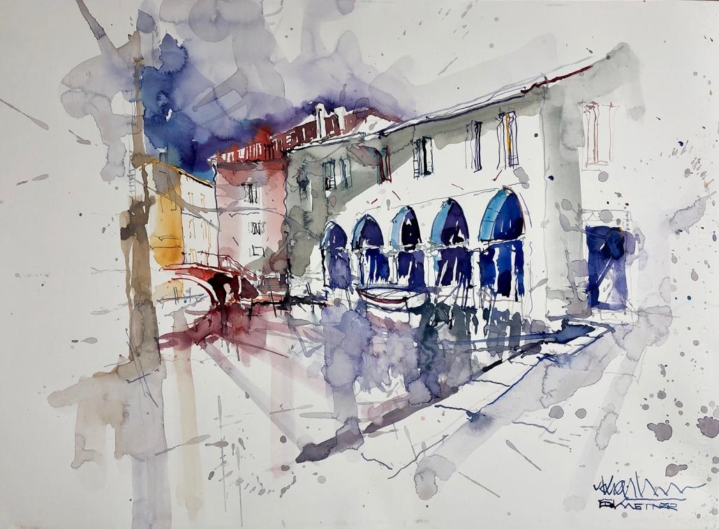 Erwin Kastner Aquarell Venedig
