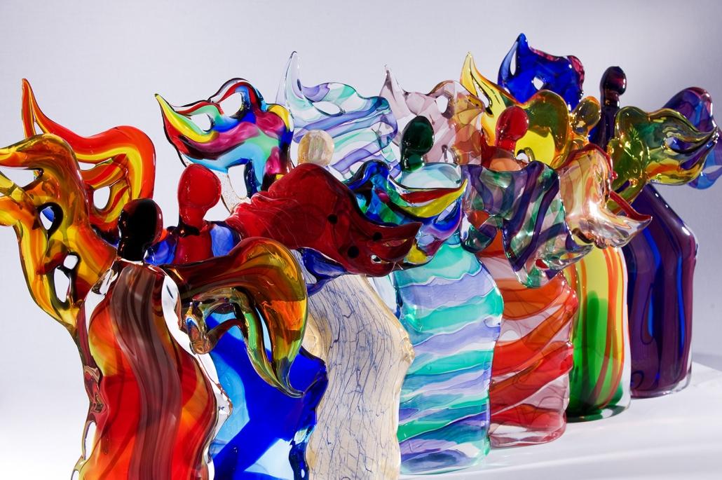 Erwin Kastner Glasskulptur Murano Berengo Engel