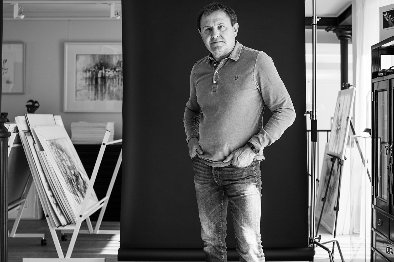 Erwin Kastner Portrait Foto Atelier schwarz weiß