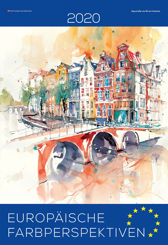 Erwin Kastner Kunstkalender 2020 Europäische Farbperspektivebn Aquarelle